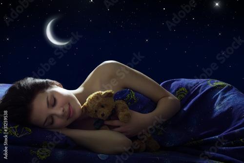 Fototapeta Girl sleeping