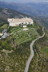 Panel Szklany Militaria Vista aerea abbazia di Montecassino