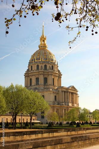 Photo  Paris, Napoleon  Les Invalides in spring, France