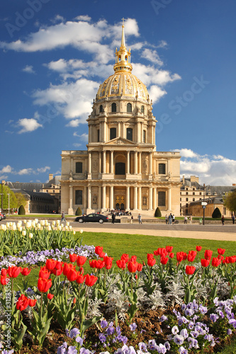 Photo Paris, Napoleon  Les Invalides in spring, France