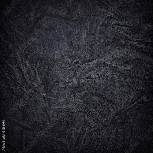 Fotografía  black leather background