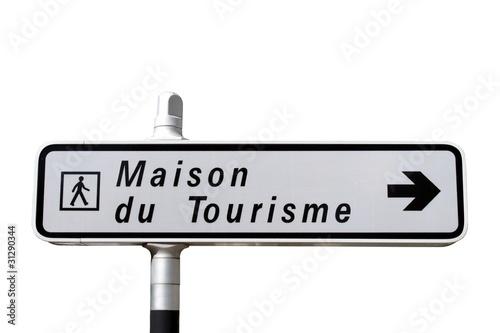 Photo  Panneau indicateur de la Maison du Tourisme