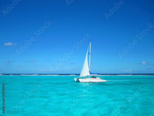 Foto op Plexiglas Caraïben Segelturn in der Karibik