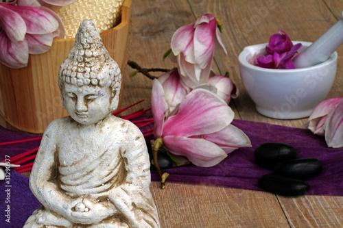 Doppelrollo mit Motiv - Buddhafigur (von Carmen 56)