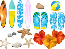 Beach And Tropical Elements