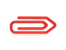 Large Red Paperclip Arrow