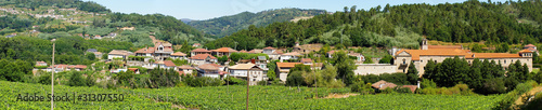 Panoramic view of the village of San Clodio and monastery