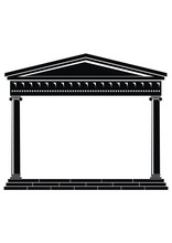 Portico Of Ancient Temple