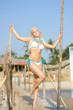 Dancing on the bamboo bridge