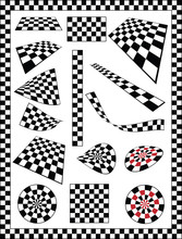 Checker, Race Flag, Chessboard Design Element