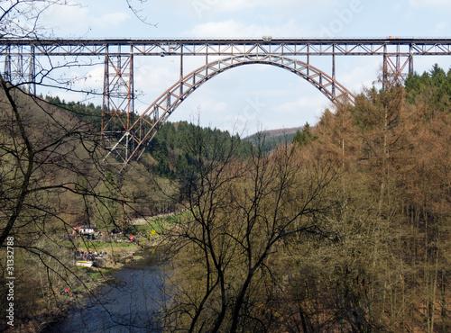 In de dag Brug Müngstener Brücke