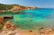 canvas print picture - Cala Xarraca,  Ibiza Spain