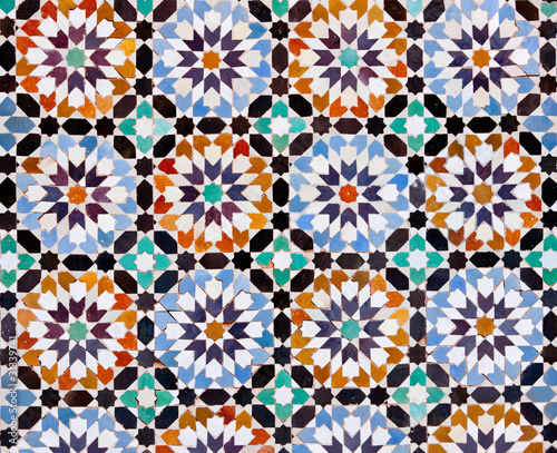 Moroccan Tiles in Marrakesh