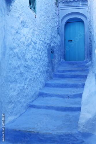 Papiers peints Maroc Blue medina of Chechaouen, Morocco