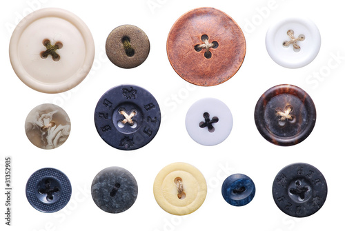 Stickers pour porte Macarons old-fashioned buttons