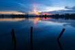 canvas print picture - Sunset at Kg. Sri Aman, Puchong, Malaysia