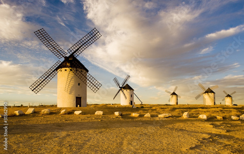 Cuadros en Lienzo windmills, Campo de Criptana, Castile-La Mancha, Spain