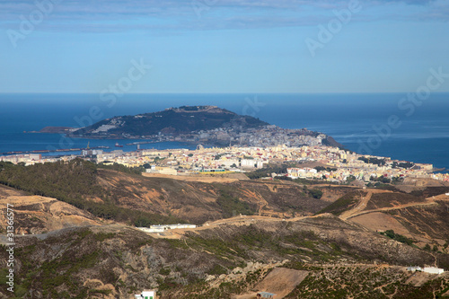 Panoramic view of la Ceuta in North Africa