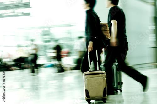 Ingelijste posters Luchthaven motion traveler