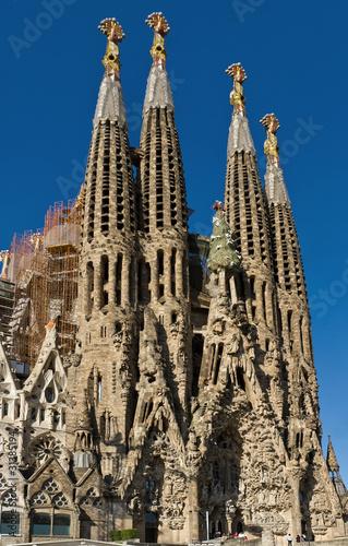Fototapeta barcelona szczegol-fasadowy-sagrada-familia-barcelona-hiszpania