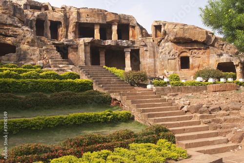 Vászonkép Jain cave temples. Bhubaneshwar, Orissa, India. 1st Century BC