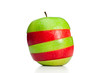 Combination of green and red apples