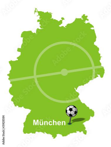 Fussballstadt Munchen Deutschlandkarte Buy This Stock Vector And