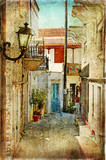 old greek streets- artistic  picture