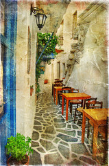 Fototapetatraditional greek tavernas- artistic picture