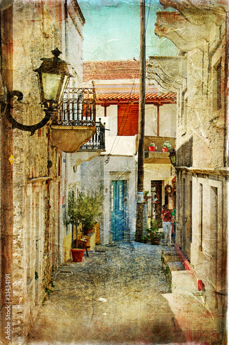 old greek streets- artistic  picture - 31434191