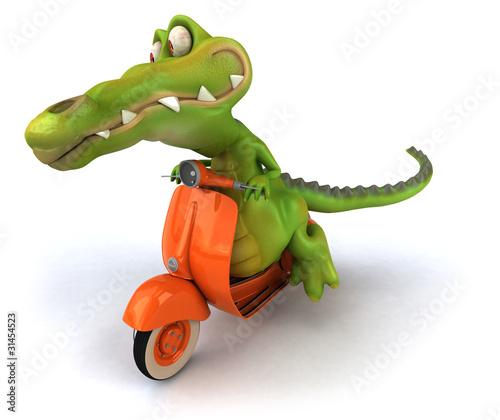Foto op Canvas Motorfiets Crocodile
