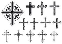 Set Di Croci Decorate