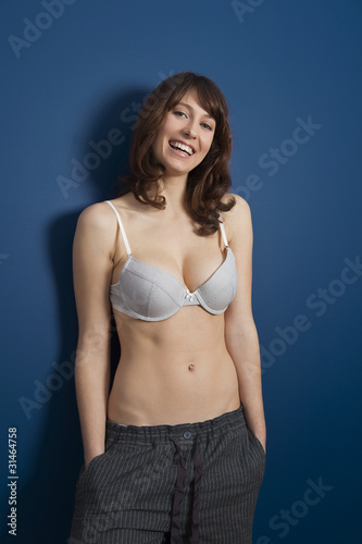 Obraz na plátně  Woman in lingerie