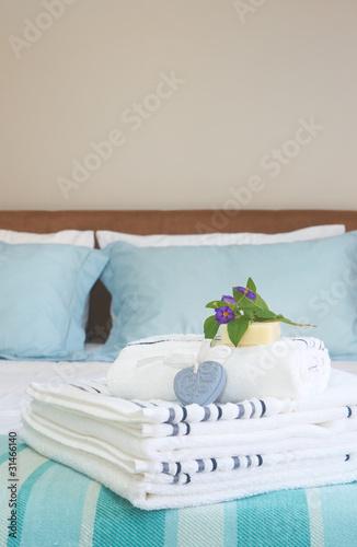 Fototapeta Beautiful bedroom interior obraz na płótnie