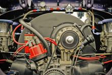 Retro Styled Vehicle Engine From The 1960's Era