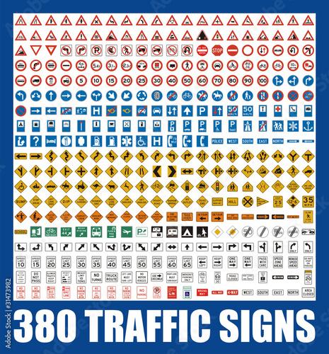 380 traffic signs
