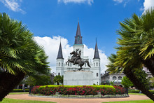 Saint Louis Cathedral And Jack...