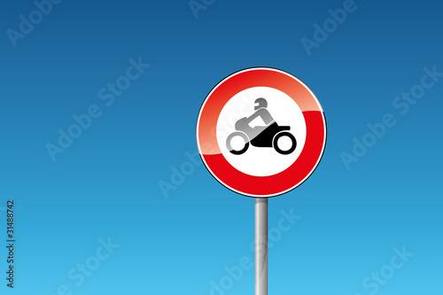 verkehrszeichen 255 verbot für krafträder motorrad