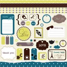 Set Of Elements For Scrap-book...