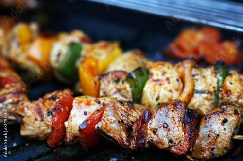 In de dag Grill / Barbecue Grillspieße