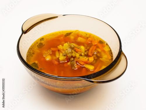 Fototapeta zupa z soczewicą obraz