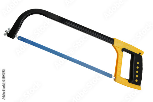 Blue hacksaw with yellow handle Canvas-taulu