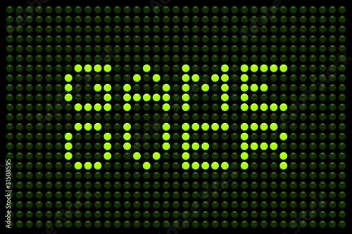 Foto op Aluminium Pixel Game Over LED Board