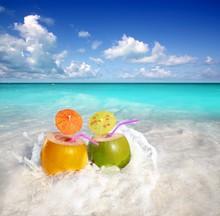 Coconut Cocktails Juice In Tro...