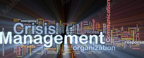 Fotografía  Crisis management is bone background concept glowing