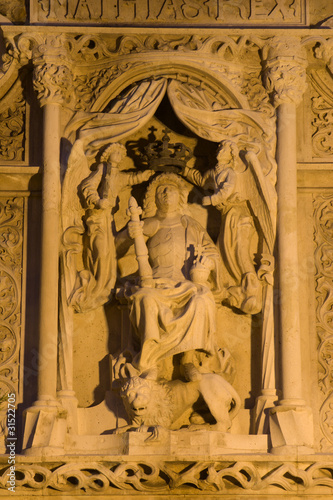Fotografie, Obraz  Budapest - st. Stephen - relief from house facade