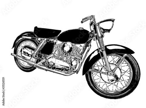 Fototapeta motocykl rysunek obraz