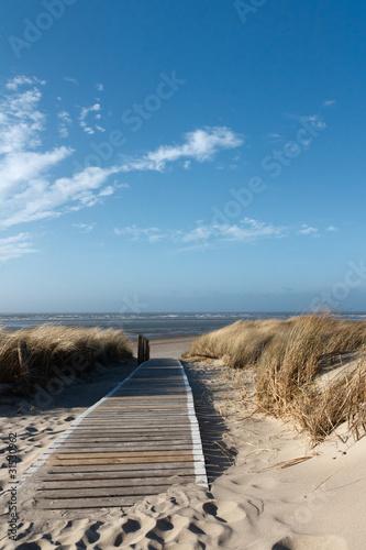 Poster Noordzee Nordsee Strand auf Langeoog
