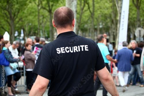 Fotografía  agent de sécurité