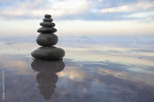 Acrylic Prints Stones in Sand zen pebbles